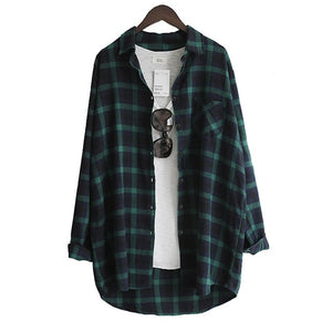 Loose Casual Plaid Long sleeve