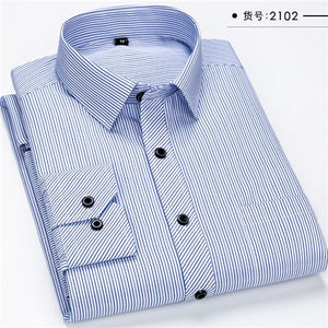Long Sleeve Shirts Solid Twill Plaid