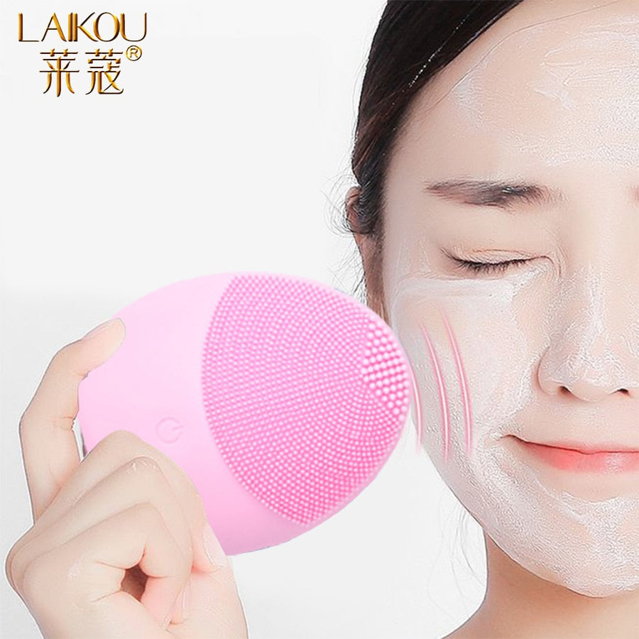 Silicone Face Cleansing Brush Electric Face Cleanser