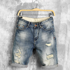 denim shorts male jeans