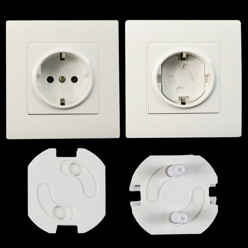 10pcs Baby Safety Rotate Cover 2 Hole Round European Standard