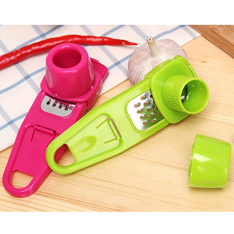 Plastic Ginger Garlic Grinding Tool Magic Silicone Peeler