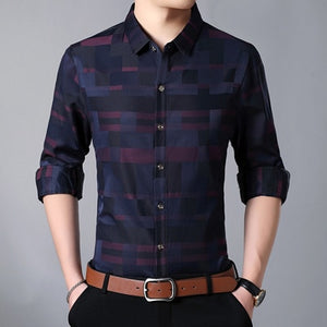Casual Slim Fit Long Sleeve Shirt