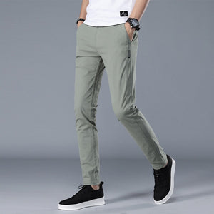Brand Men Pants Casual Mens Business Male Trousers Classics Mid weight Straight Full Length Fashion breathing Pant