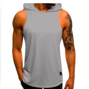 Sleeveless Hoodie T-Shirts Muscle Sweatshirt