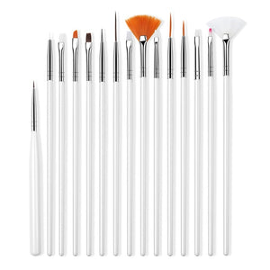 Nail Brush For Manicure Gel Brush For Nail Art 15Pcs
