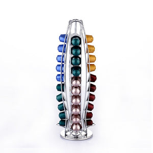 40 Cups Nespresso Coffee Pods Holder Rotating Rack Coffee Capsule Stand Dolce Gusto Capsules Storage Shelve Organization Holder