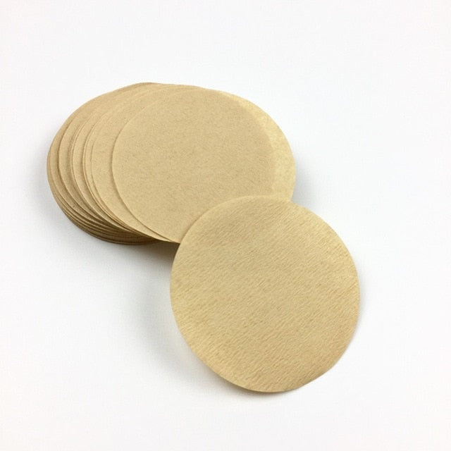 400PCS Round Coffee Filter Paper 56mm 60mm 68mm For Espresso Coffee Maker V60 Dripper Coffee Filters Tools Moka Pot Paper Filter