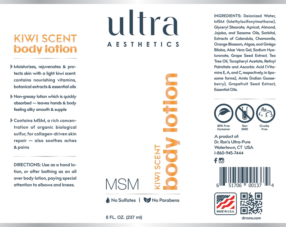 MSM Body Lotion, Kiwi 8oz.