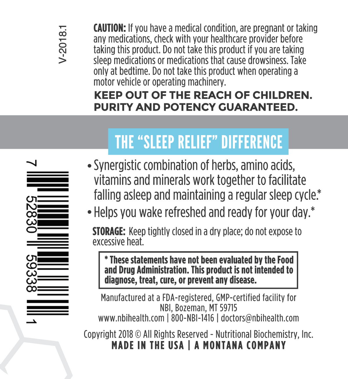 Sleep Relief 60 Tablets