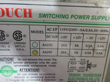 TOUCH SWITCHING POWER SUPPLY MODEL AC I/P DC O/P AA250 CINCINNATI ARROW 500