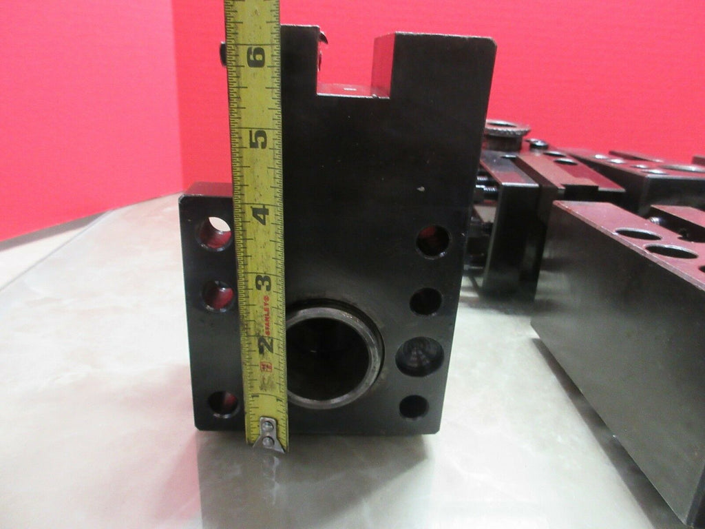 "IKEGAI FX-30 CNC LATHE 4"" X 6"" INCH TOOL BLOCK HOLDER HOLDING LOT OF 3 PIECES"