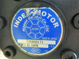 NIPPON GEROTOR INDEX MOTOR 25600171 MFG 0409 -11 WARRANTY