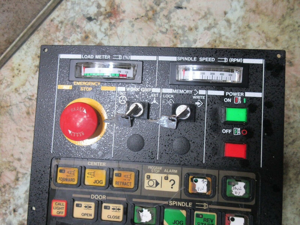 HITACHI SEIKI CNC LATHE MAIN OPERATOR CONTROL SWITCH PANEL N-3317A-01 OPSWL2_