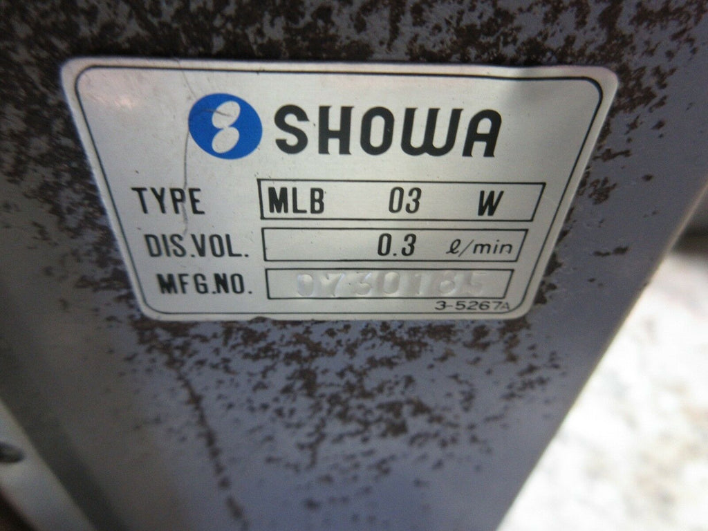 SHOWA OIL LUBE LUBRICATION SYSTEM SHORT NECK MLB 03 W OKUMA LOT OF 3 PIECES