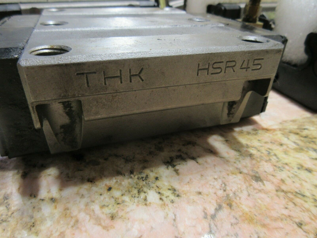 "THK LINEAR GUIDE RAIL TRUNK UNIT HSR45 5"" KOMO VR804TT ROUTER LOT OF 3 PIECES"