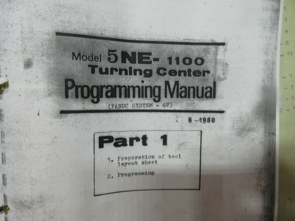 HITACHI SEIKI 5NE-1100 PROGRAMMING MANUAL PART 1 6-1980
