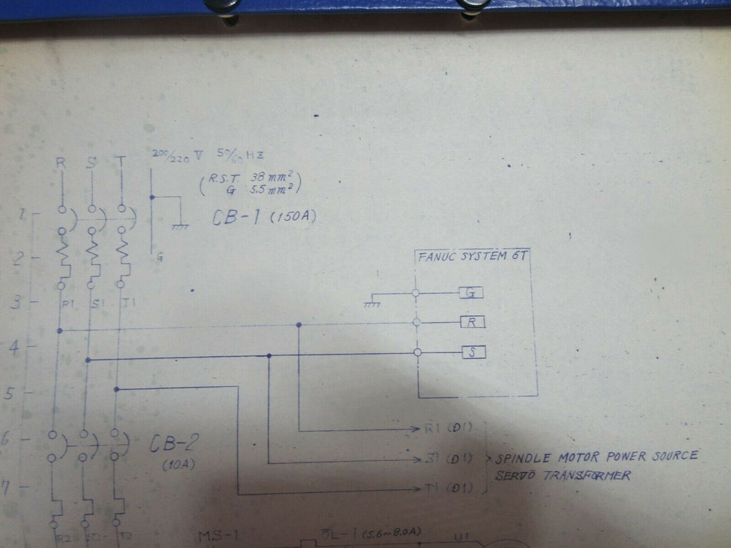 HITACHI SEIKI 5NE-1100 CNC LATHE SCHEMATIC MANUAL WIRING DIAGRAM E1565-10-001-00