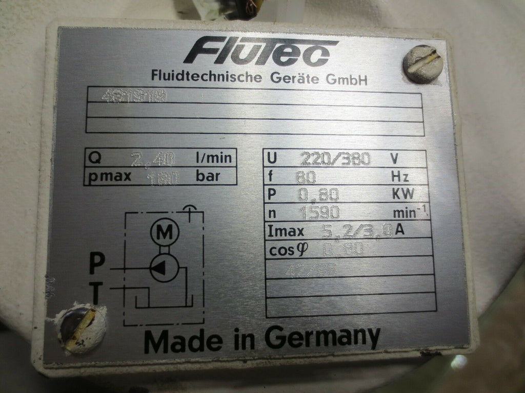 FLUTEC OIL MOTOR PUMP UNIT 481S19 481919