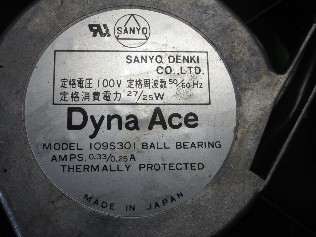 SANYO DENKI DANA ACE CNC COOLING FAN 100V 109S301 1O9S3O1 LOT OF 3