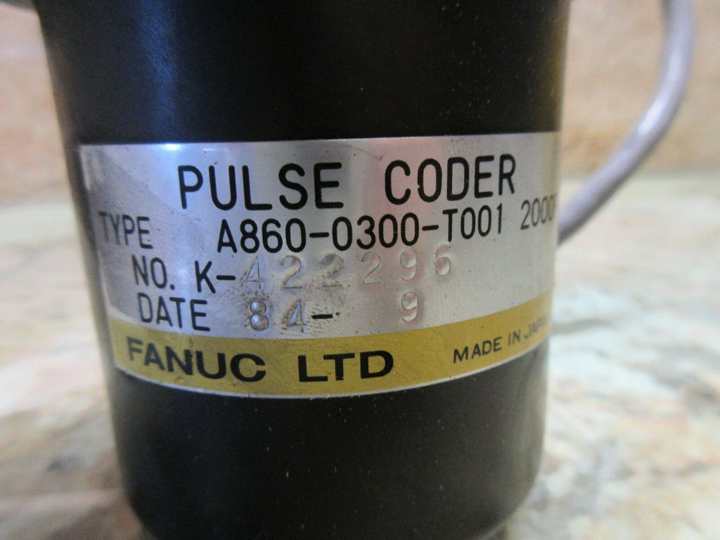FANUC PULSE CODER TYPE A860-0300-T001 2000 NO. K-422296 WITH YELLOW CAP
