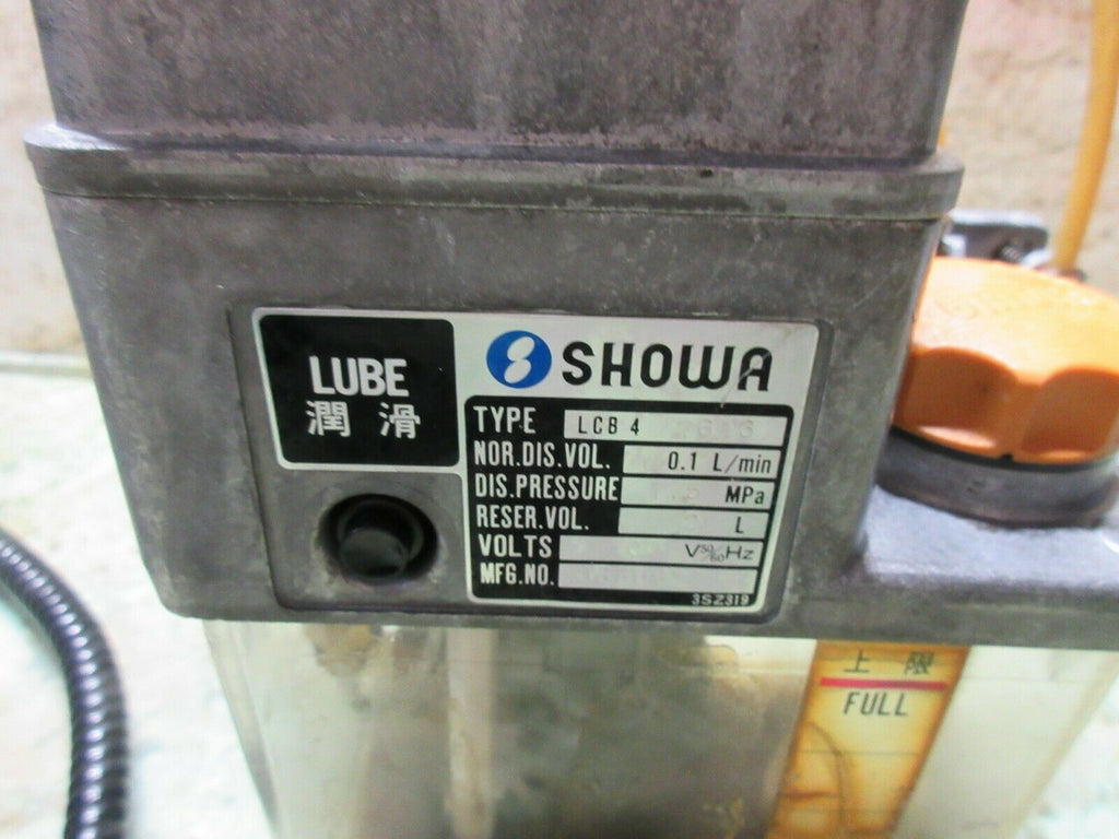 SHOWA OIL LUBE LUBRICATION SYSTEM TANK PUMP LCB 4 7613 HITACHI SEIKI HG400 EACH1