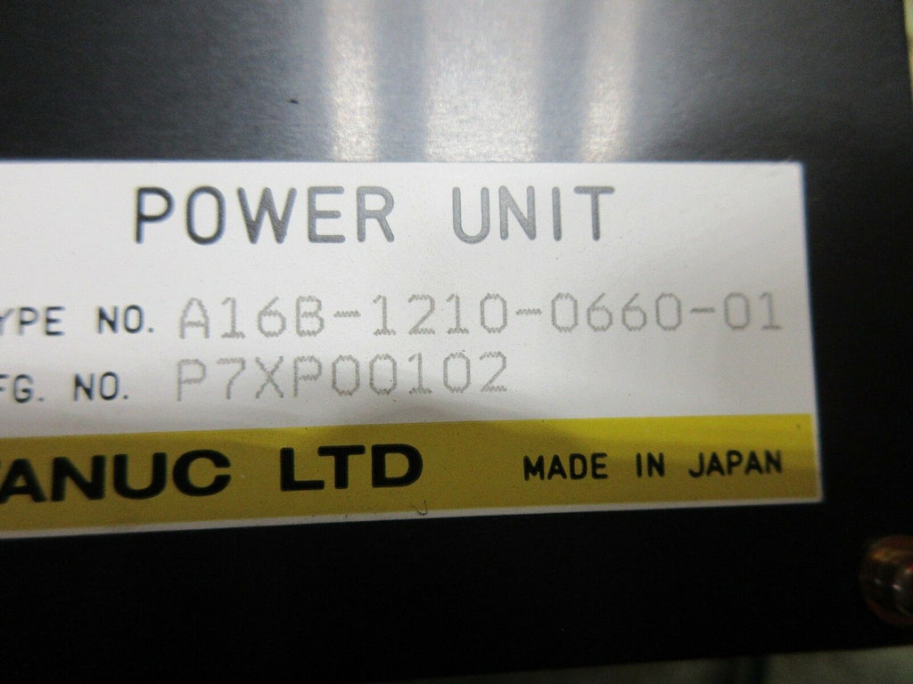 FANUC POWER UNIT A16B-1210-0660-01 CNC EDM WARRANTY