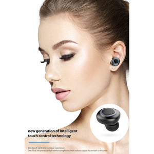 Wireless Headphone In-ear Invisible Mini Stereo Music Earphone Wireless Earbuds