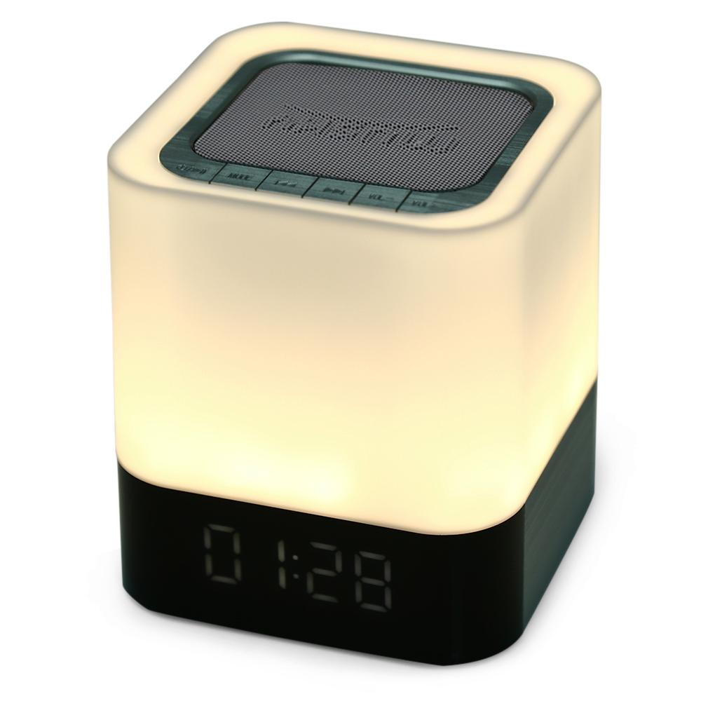 Portable Wireless Bluetooth Stereo Speaker Handsfree AUX Audio Input LED Time Display Alarm Model