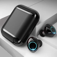 "Load image into Gallery viewer, LUXINI GOOGLE SHOP Black Studio Air S7 V2.0 | The Boss™ 5.0 Bluetooth Headphones TWS Stereo Earbuds With Mic & Charging Box <img src=""https://i.ibb.co/Hq8D8Y9/PRODUCT-REVIEWS-5-0-Bluetooth-Headphones.jpg"" auto="""" width:="""" max-width:="""" height:=""""> <p>"