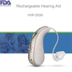 FDA Approved Rechargeable Hearing Aid 203SS-VHP  (Get an Entire Pair for Only $141.92)
