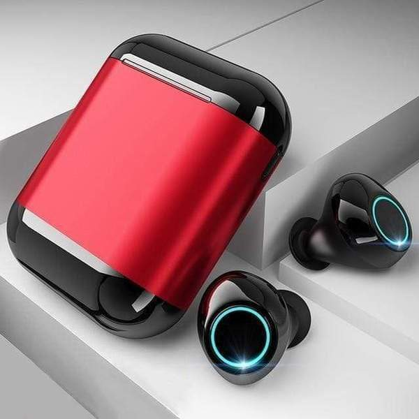 LUXINI GOOGLE SHOP Black Red Studio Air S7 V2.0 | The Boss™ 5.0 Bluetooth Headphones TWS Stereo Earbuds With Mic & Charging Box <img src=