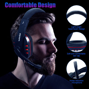 Gamer Stereo Deep Bass Gaming Headphones Earphone Headset With Microphone for Computer PC  Laptop Notebook