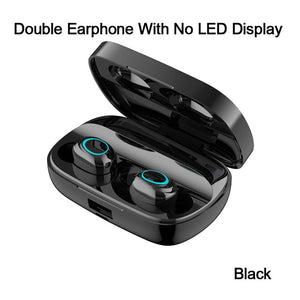 Touch Bluetooth Earphone Wireless Noise Cancelling Headset HD Call TWS LED Ear buds Bluetooth Earbuds V5.0