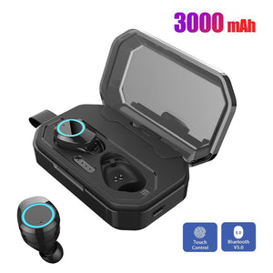 Sport Touch Control Earpiece Ear Buds Wireless Bluetooth 5.0 Earphones With 3000mAh Charge Box