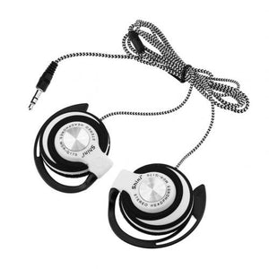 Universal 3.5mm Plug Wired HIFI Stereo Metal Wired Headphones Heavy Bass Headset Over-ear Adjustable Ear hook earphone for phone
