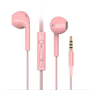 Candy colors Wired Headphones Bass Stereo Earbuds