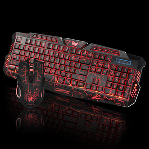 2.4Ghz LED Color Changing Wired Gaming Keyboard & Mouse Set