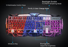 Load image into Gallery viewer, 2.4Ghz LED Color Changing Wired Gaming Keyboard & Mouse Set