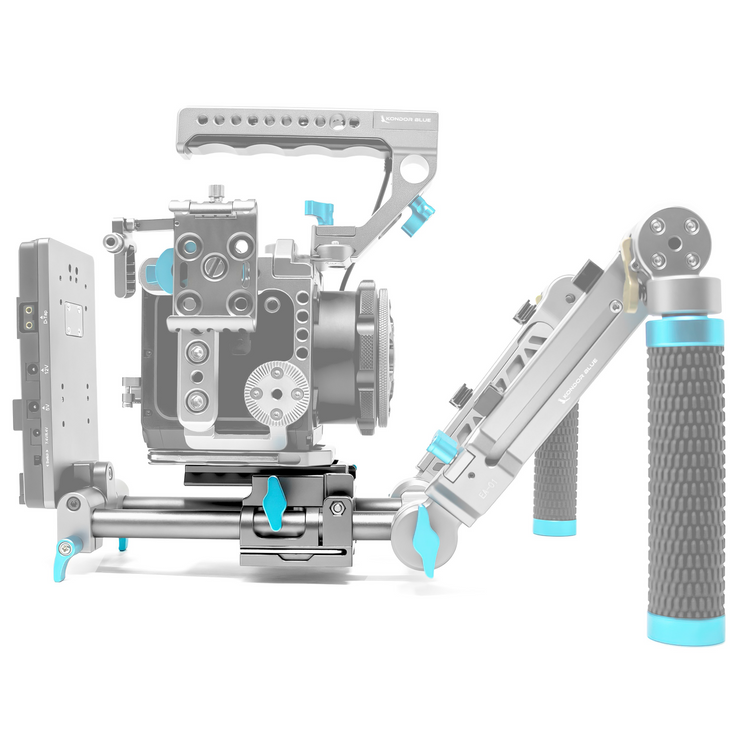 15mm LWS Arri/501 Baseplate Side Loading for Red Komodo, BMPCC & Mirrorless