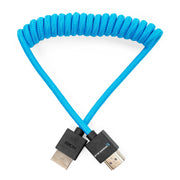 "Full HDMI Cable for On-Camera Monitors 12""-24"" Braided Coiled"