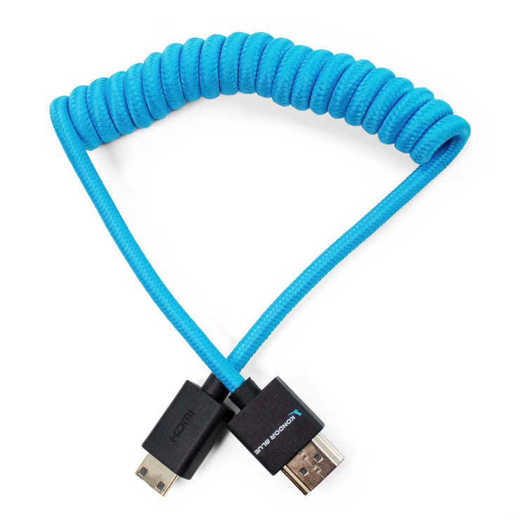 "Mini HDMI to Full HDMI Cable 12""-24"" Braided Coiled"