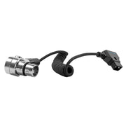 D-Tap to 4 Pin XLR Female Right Angle Coiled Power Cable