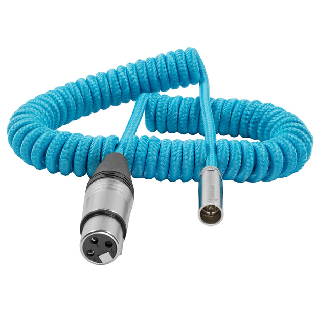 "Coiled Mini XLR to XLR for BMPCC 4K/6K Pro Camera (20""-40"")"