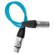 "18"" Male XLR to Female XLR audio cable for on-camera mics"