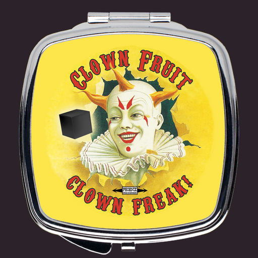 Clown Fruit Compact Travel Mirror - Phoenix Artisan Accoutrements