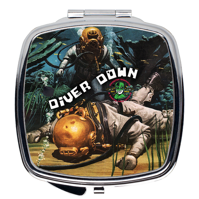 Diver Down Compact Travel Mirror - Phoenix Artisan Accoutrements