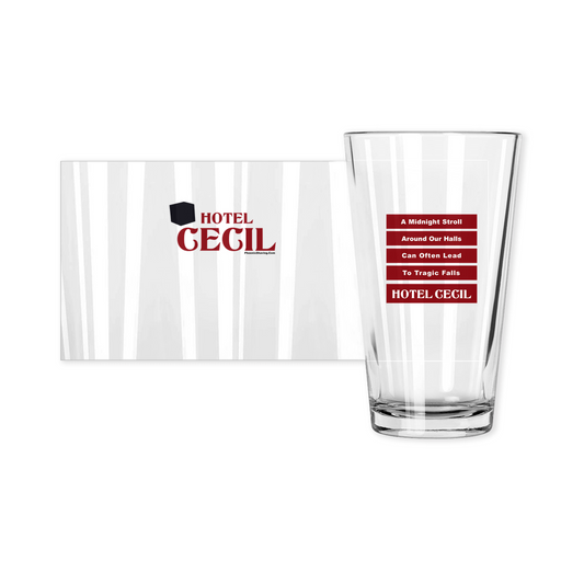 Hotel Cecil Haunted Pint Glass | Made in the USA | Collectible - Phoenix Artisan Accoutrements