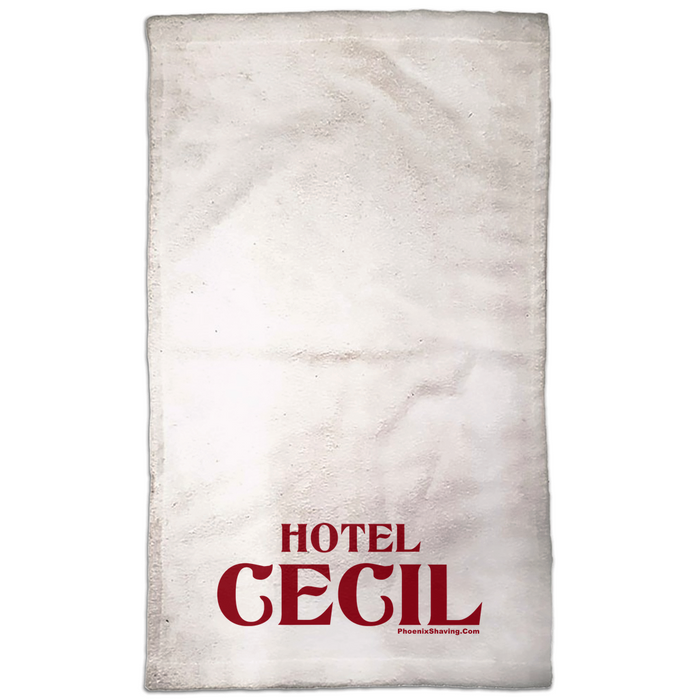 "Hotel Cecil Haunted Hand Towel | 15 x 25 | Perfect for a ""Hot Towel"" - Phoenix Artisan Accoutrements"