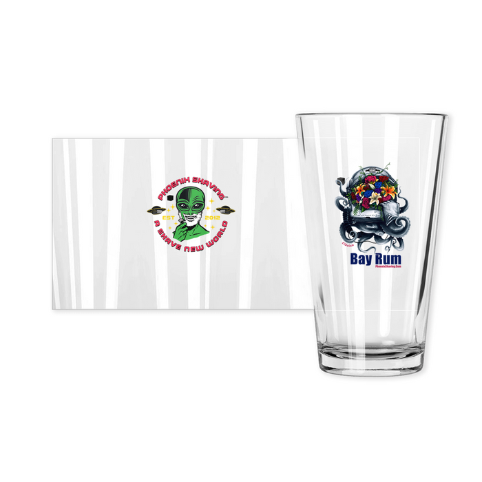 Clásico Bay Rum Pint Glass | Collectible | Made in the USA - Phoenix Artisan Accoutrements